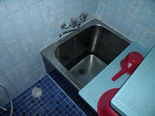 ステンレスの寒い浴槽
