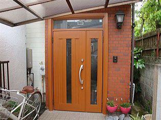 リフォーム用玄関ドア施工